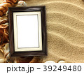 Picture frame on shells and sand background 39249480