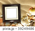 Picture frame on shells and sand background 39249486