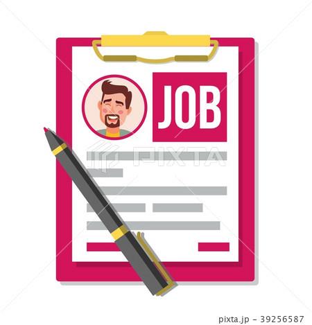 Form Job Application Vector. Business Document 39256587