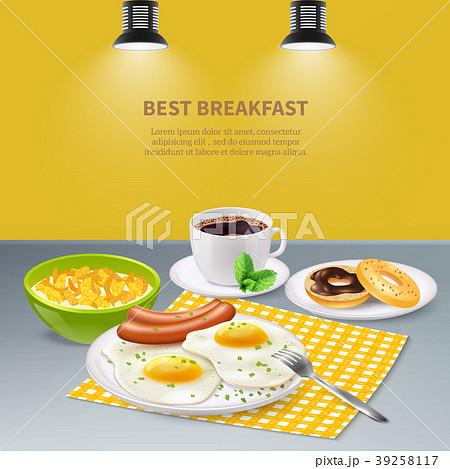 Realistic Breakfast Background 39258117