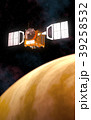 Interplanetary Space Station Orbiting Yellow 39258532