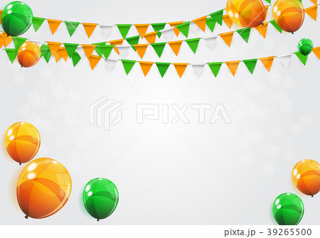 party background with flags vector illustrationのイラスト素材