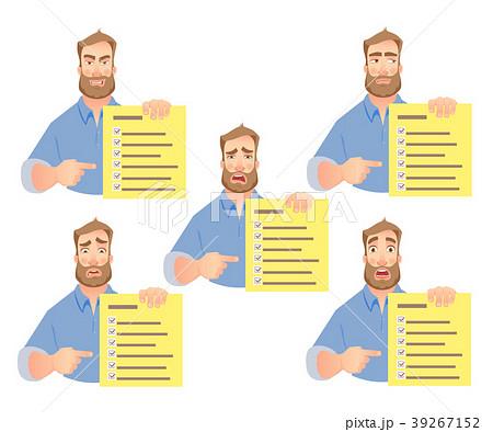 man holding checklist set 39267152