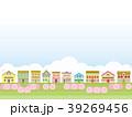 街並み 春 桜のイラスト 39269456