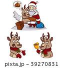 クリスマス 鹿 ベクトルのイラスト 39270831