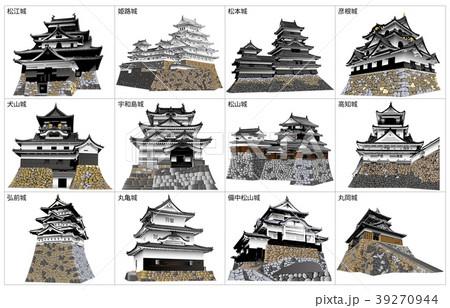 日本の城現存天守 39270944
