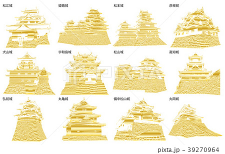 日本の城現存天守金2 39270964