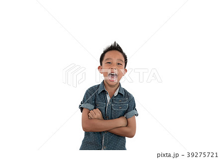 happy boy smiling looking at camera portrait 39275721