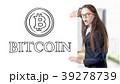女 女性 ビットコインの写真 39278739