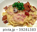 Close up Carbonara with bacon, image picture 39281383