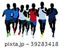 ランナー 走者 人影のイラスト 39283418