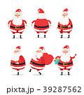 サンタクロース サイド ヨコのイラスト 39287562