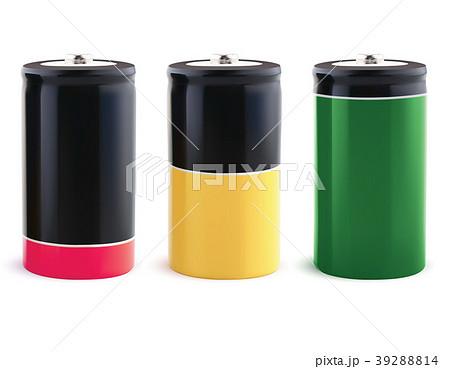Battery charging status indicator. Realistic  39288814