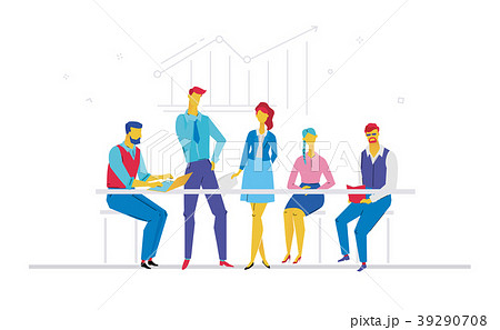 Business meeting - flat design style colorful 39290708