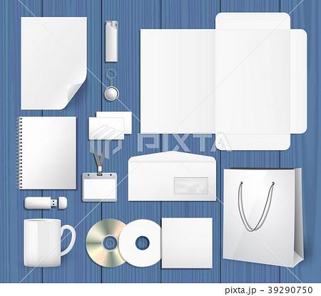 Blank corporate identity mock ups set 39290750