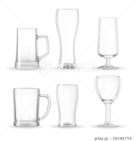 Set of empty transparent glasses 39290754
