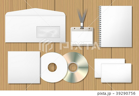 Blank corporate identity mock ups set 39290756