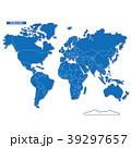 セカイ地図 シンプル青 39297657