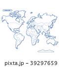 セカイ地図 シンプル白地図 39297659