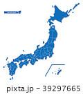 ニホン地図 シンプル青 39297665