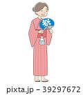 人物 女性 浴衣のイラスト 39297672