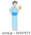 人物 男性 浴衣のイラスト 39297673