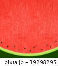夏 スイカ 和紙のイラスト 39298295