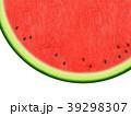 夏 スイカ 和紙のイラスト 39298307