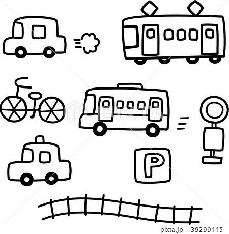 手書きの車と電車のイラスト素材 [39299445] , PIXTA
