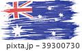 Art brush watercolor painting of Australian flag 39300730