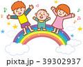 虹 子供達 音符のイラスト 39302937