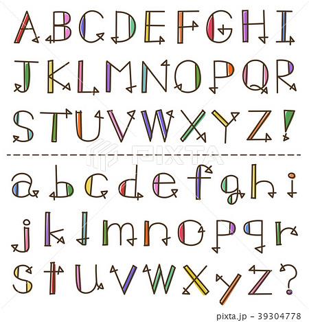 手書き風 アルファベットのイラスト素材 39304778 Pixta
