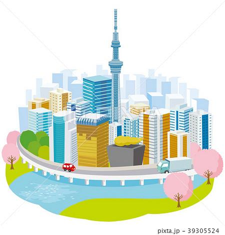 スカイツリーと東京の街並み 39305524