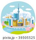 東京 桜 東京スカイツリーのイラスト 39305525