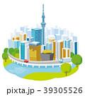 東京 東京スカイツリー 都市風景のイラスト 39305526