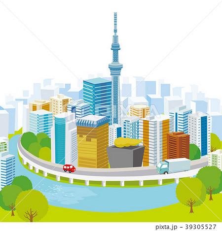スカイツリーと東京の街並み 39305527