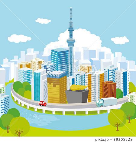スカイツリーと東京の街並み 39305528
