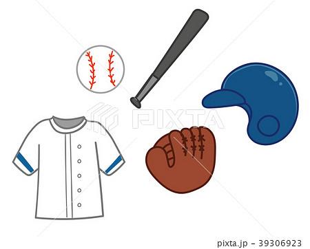 野球道具のイラスト素材 39306923