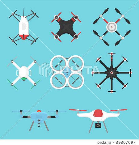 Vector illustration aerial vehicle drone 39307097