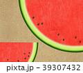 背景-和紙-スイカ 39307432