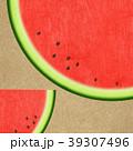 夏 スイカ 和紙のイラスト 39307496