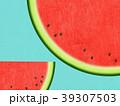 夏 スイカ 和紙のイラスト 39307503