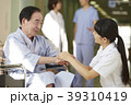 病院 車椅子 シニア男性 39310419