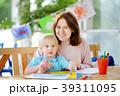 子供 ペイント 塗るの写真 39311095