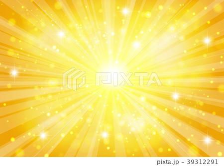 ゴールド放射状キラキラした背景 39312291