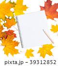 葉っぱ 紅葉 ノートの写真 39312852