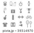 フィットネス アイコン イコンのイラスト 39314970