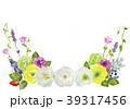 花 フレーム 水彩のイラスト 39317456