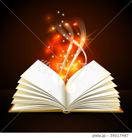 Open book with mystic bright light 39317487