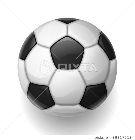 soccer ball on white background sports footballのイラスト素材